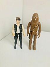 Han Solo & Chewbacca Vintage Star Wars Figure g.m.f.g.i 1977 Hong Kong