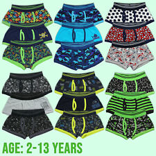 UK Kids Boys Trunks Fit Boxers Cotton Rich Underwear Boxer Shorts Age 2-13 Years