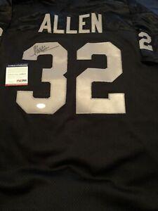 Marcus Allen RARE Signed Custom black Jersey! PSA Certified