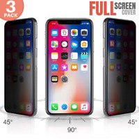 3PACK Privacy Anti Spy Tempered Glass HD Screen Protector iPhone X/XS/XR/XS MAX
