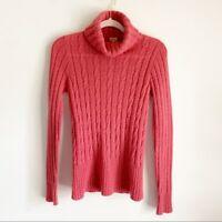 J. Crew Pink Mohair Wool Turtleneck Knit Sweater Medium Women's