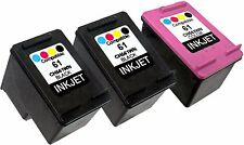3PK For HP 61 CH561WN CH562WN (New Gen) Envy 5532 5535 Deskjet 1510 3050 3050A