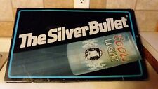 Vtg Coors Light Silver Bullet Lighted Beer Advertising Bar Sign Display Elec