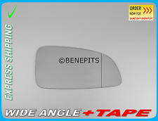 OPEL ASTRA H MK5 2004-2009 Wing Mirror Glass Wide Angle + TAPE Right Side F019
