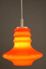 Pendel Leuchte Glas Decken Lampe Orange Vintage Bulb Lamp 70er Jahre