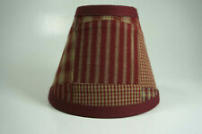 Country Burgundy Patchwork Fabric Chandelier Candle Lampshade Lamp Shade
