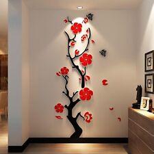 DIY Wall Tree Flower 3d Decoration Room Home Art Bedroom Pink Red White Black