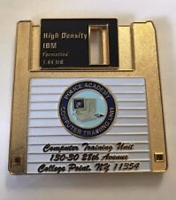 NYPD Police Department City of New York Computer Training Floppy Disk Coin Gold