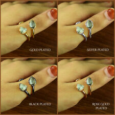 Natural Herkimer Diamond Gemstone Antique Fashion Design Stackable Party Ring