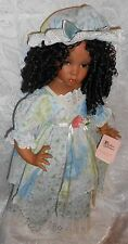 """Handmade Collectible 24"""" African American Porcelain Doll by Paradise Galleries"""