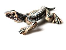"Amazing Jon Stuart Anderson Polymer Clay Fimocreations Lizard Gecko Signed 4"""