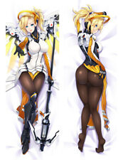 Overwatch OW Mercy Dakimakura Anime Body Pillow Cover Case Hugging 150x50 59""