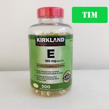 Kirkland Vitamin E 180MG (400 IU) 500 Softgels (NEW Inventory!!!)