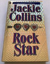 SIGNED Jackie Collins ROCK STAR Pocket Books (1st 1989)