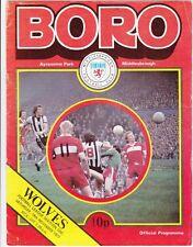 MIDDLESBROUGH V Wolverhampton WOLVES 1977/78 Division 1-NOVEMBRE 19th