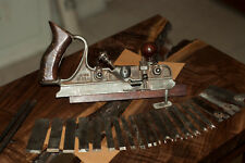 Vintage Sargent Combination Plow Hand Plane with 21 Irons / like stanley no 45
