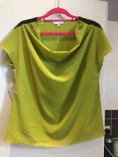 STUNNING PER UNA TOP WITH COWL FRONT AND SEQUINS TO SHOULDER SIZE 14 WORN ONCE