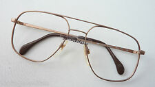 Vintage Brillenfassung Metzler Metall Aviator 70er oldschool braun Kult size M