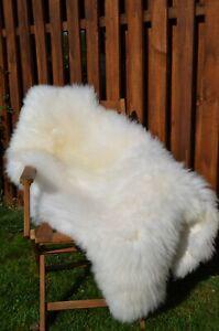 Beautiful Sheepskin Rug, BROWN, Ivory/ White