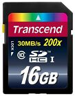 GENUINE Transcend SD SDHC Class 10 Memory Card 16GB 16 GB TS16GSDHC10 Original