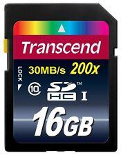 GENUINE Transcend SD SDHC 16GB Class 10 UHS-I 200x Memory Card