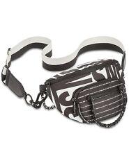 STEVE MADDEN BJORDAN Black Belt Bag  Black White Handbag