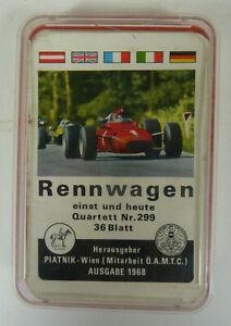 Quartett: Rennwagen, einst und jetzt Piatnik Nr. 299, 1968