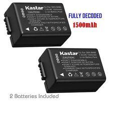 2x Kastar Battery for Panasonic Lumix DMW-BMB9 DMC-FZ40 DMC-FZ45 DMC-FZ47 FZ48
