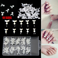 100x French False Acrylic Nail Art Tips White Decoration Manicure UV Gel  ~jp