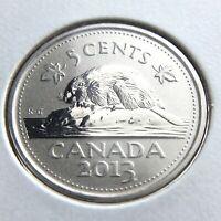 2013 Specimen Canada 5 Cents Nickel Canadian Uncirculated Elizabeth II Coin N165