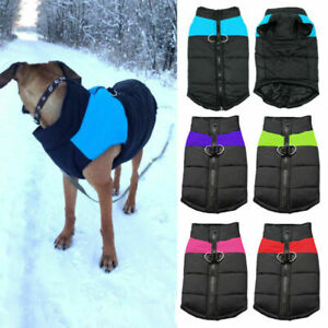 US Waterproof Pet Dog Vest Warm Jacket Clothes Winter Padded Coat  Sweater S-7XL