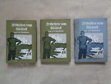 21 Meilen vom Südpol, 3 Bände, deutsche Erstausgabe, E:H: Shackleton