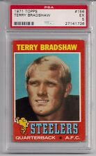 1971 Topps Terry Bradshaw Rookie #156 PSA 5 EX Pittsburgh Steelers HOF