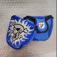 1pc blue mallet Skull Putter Cover Headcover For Scotty Cameron Odyssey 2ball