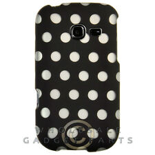 Samsung R480 Freeform 5 Shield Polka Dots Black Case Cover Shell Guard Shield