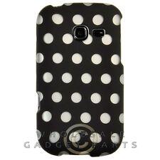 Samsung R480 Freeform 5 Shield Polka Dots Black Case Cover Shell Guard Shield