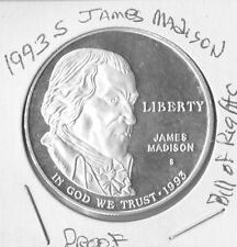 1993 S Bill of Rights,Madison, Proof  Silver Dollar FREE SHIPPING