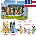 Bluey & Family Toys 4 PACK FIGURINE SET + 25cm BINGO + BLUEY Plush Toy Kid Gift For Sale