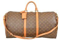 Louis Vuitton Monogram Keepall 55 Bandouliere Travel Bag Strap M41414 - YG00598