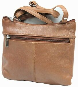 Genuine Leather Every Day Purse Shoulder or Cross Body Slim Light Weight & Soft