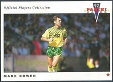 PANINI FOOTBALL 92-OFFICIAL PLAYERS COLLECTION-#147-NORWICH CITY-MARK BOWEN