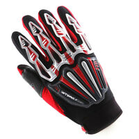 NEW Motorcycle Motocross MX ATV Dirt BMX Bike Racing Textile Gloves Red XS-XXL