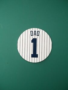 Baseball Gift for Father's Day - Yankees Dad Magnet - 4 Inch - Customizable