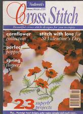 Cross Stitch Magazine Feb 1995 Cornflower Collection St Valentine's Day Flowers