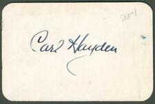 CARL HAYDEN - PASS SIGNED