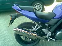 Suzuki SV650 2003- 2013 Stainless oval ROAD LEGAL MTC Exhaust