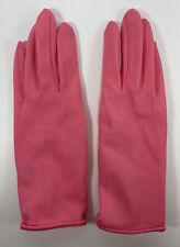 Vintage Elaborate Pink Ladies Gloves 90% Polyester 10% Nylon, Made In Japan Wpl