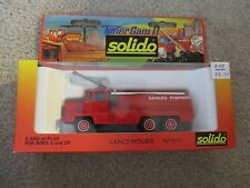 Solido Toner Gam II Lance Mousse Fire Tanker Truck #3107 MIB See My Store
