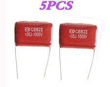 5 PCS Metallized Film Capacitor CBB22 105J 1000V 1uF 1KV P=27.5 WEB1163