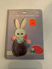 Vintage Hallmark Easter Bunny Gift Trim And Tag Never Used